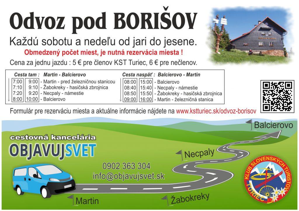 Doprava na chatu Borišov